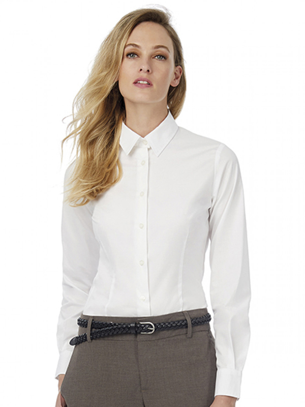 Image of B&C BLACK TIE LSL WOMENS SHIRT