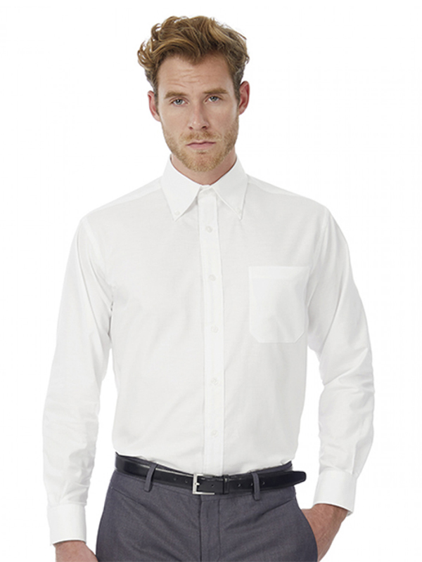 Image of B&C OXFORD LSL MENS SHIRT