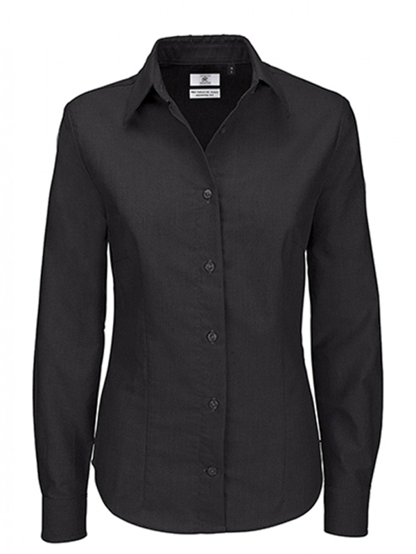Image of B&C OXFORD LSL WOMENS SHIRT