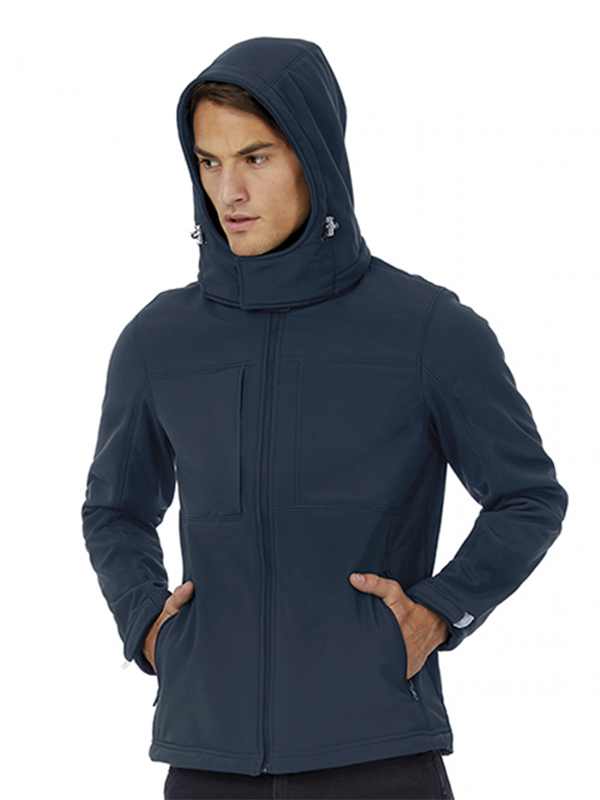 Images of JM950 ΜΠΟΥΦΑΝ HOODED SOFTSHELL B&C